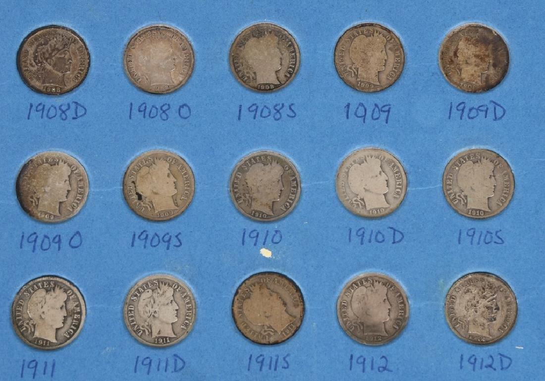 63-90% SILVER BARBER DIMES, 1892-1916 - 6