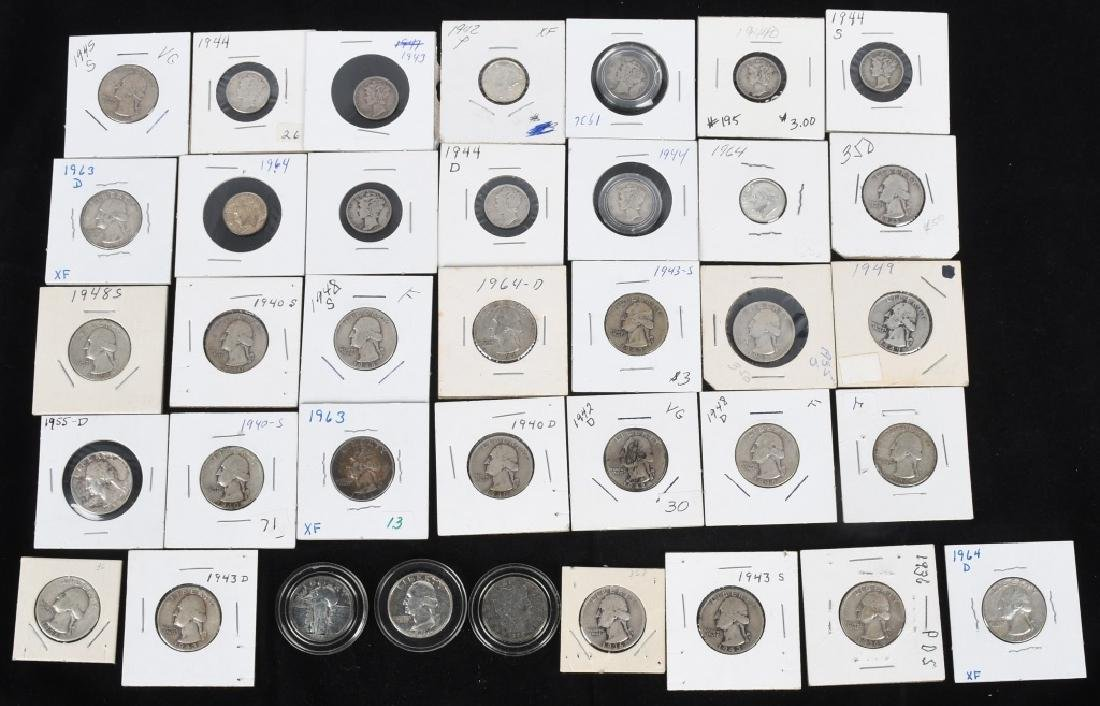 $7.60 90% SILVER QUARTERS and DIMES