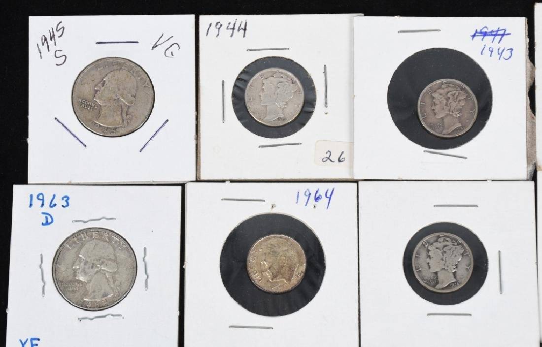 $7.60 90% SILVER QUARTERS and DIMES - 2