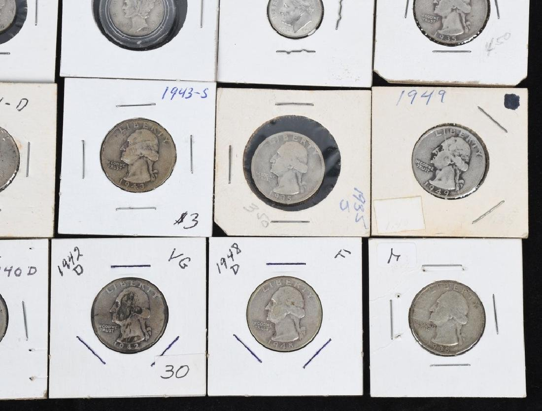 $7.60 90% SILVER QUARTERS and DIMES - 4