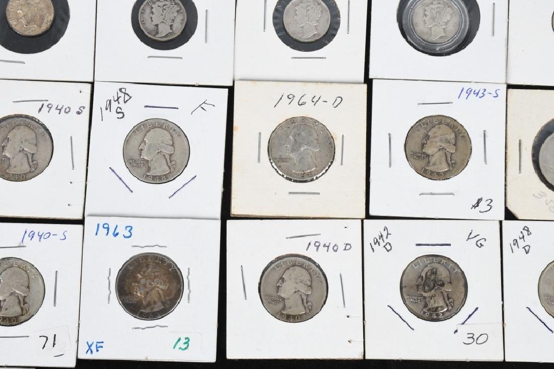 $7.60 90% SILVER QUARTERS and DIMES - 5