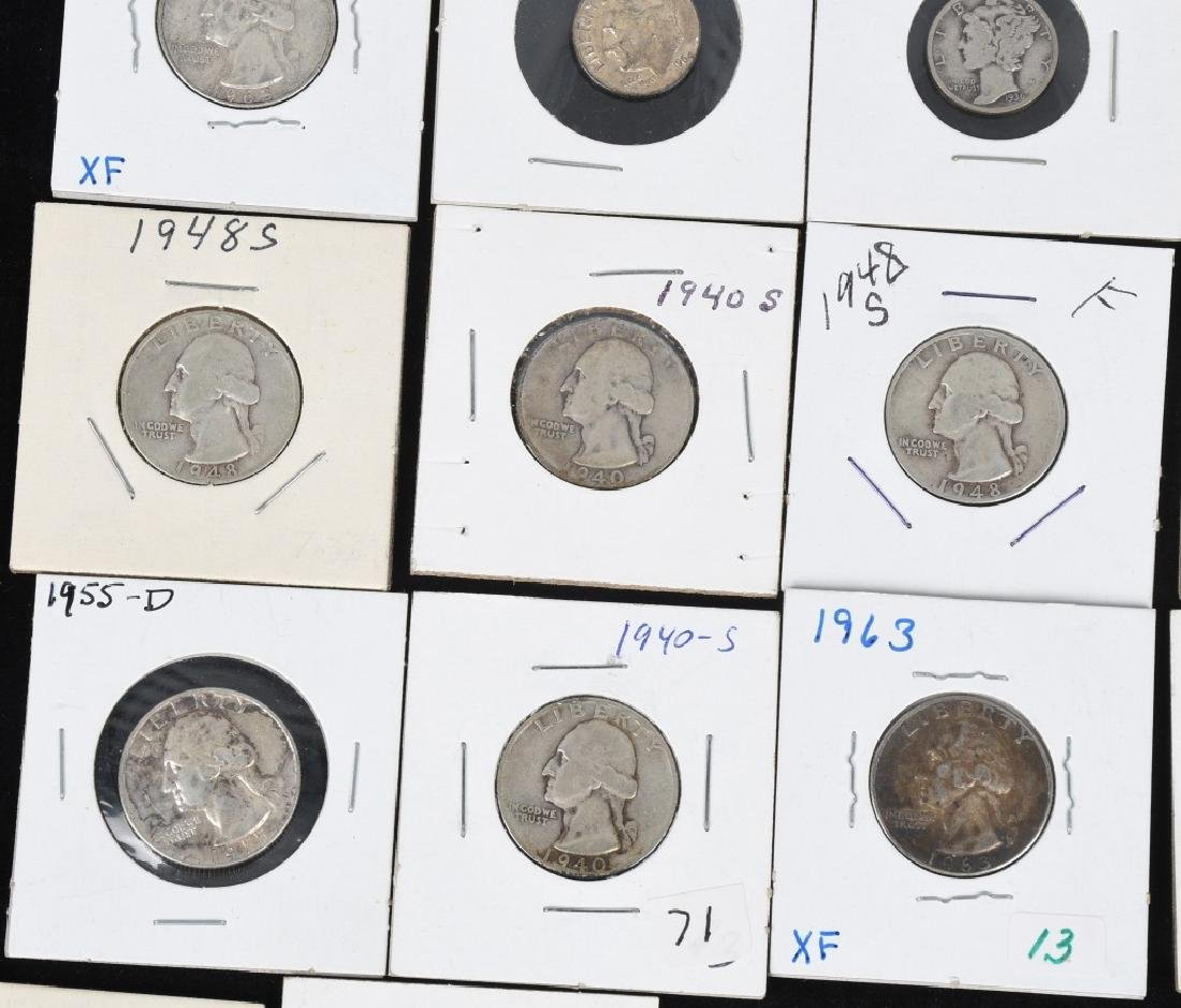 $7.60 90% SILVER QUARTERS and DIMES - 6