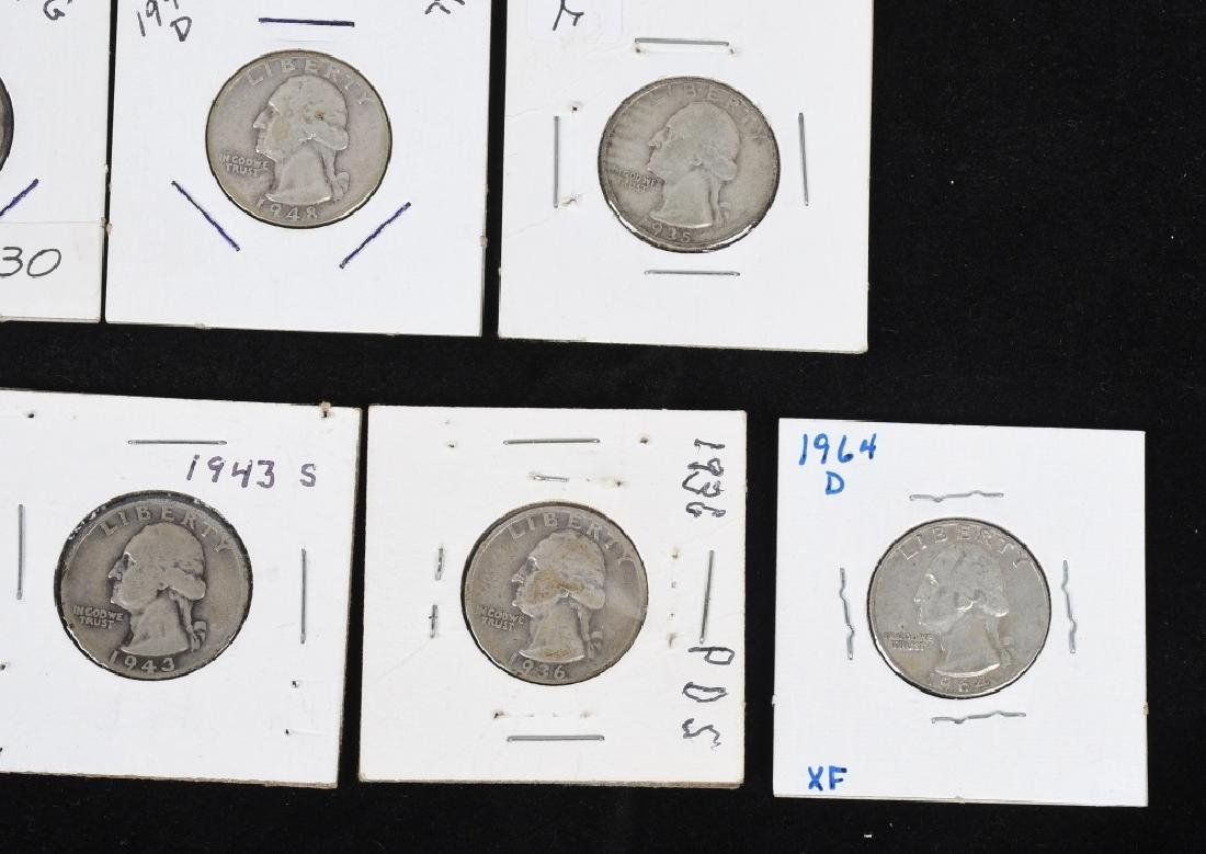 $7.60 90% SILVER QUARTERS and DIMES - 9