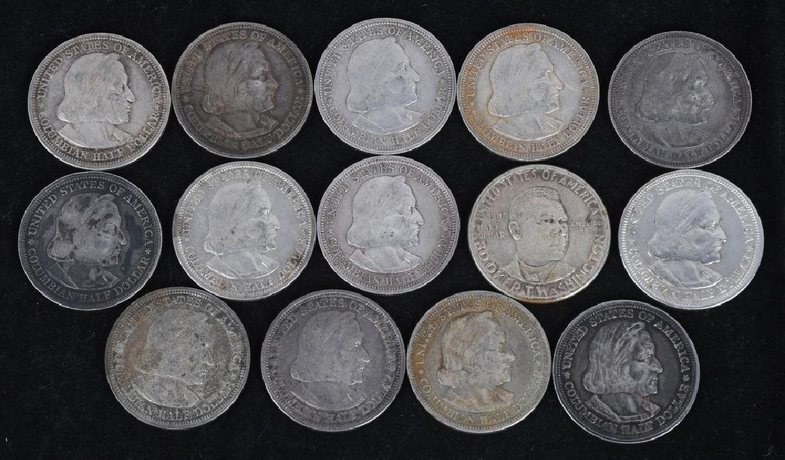 14 - US 90% SILVER COMMEMORATIVE HALF DOLLARS