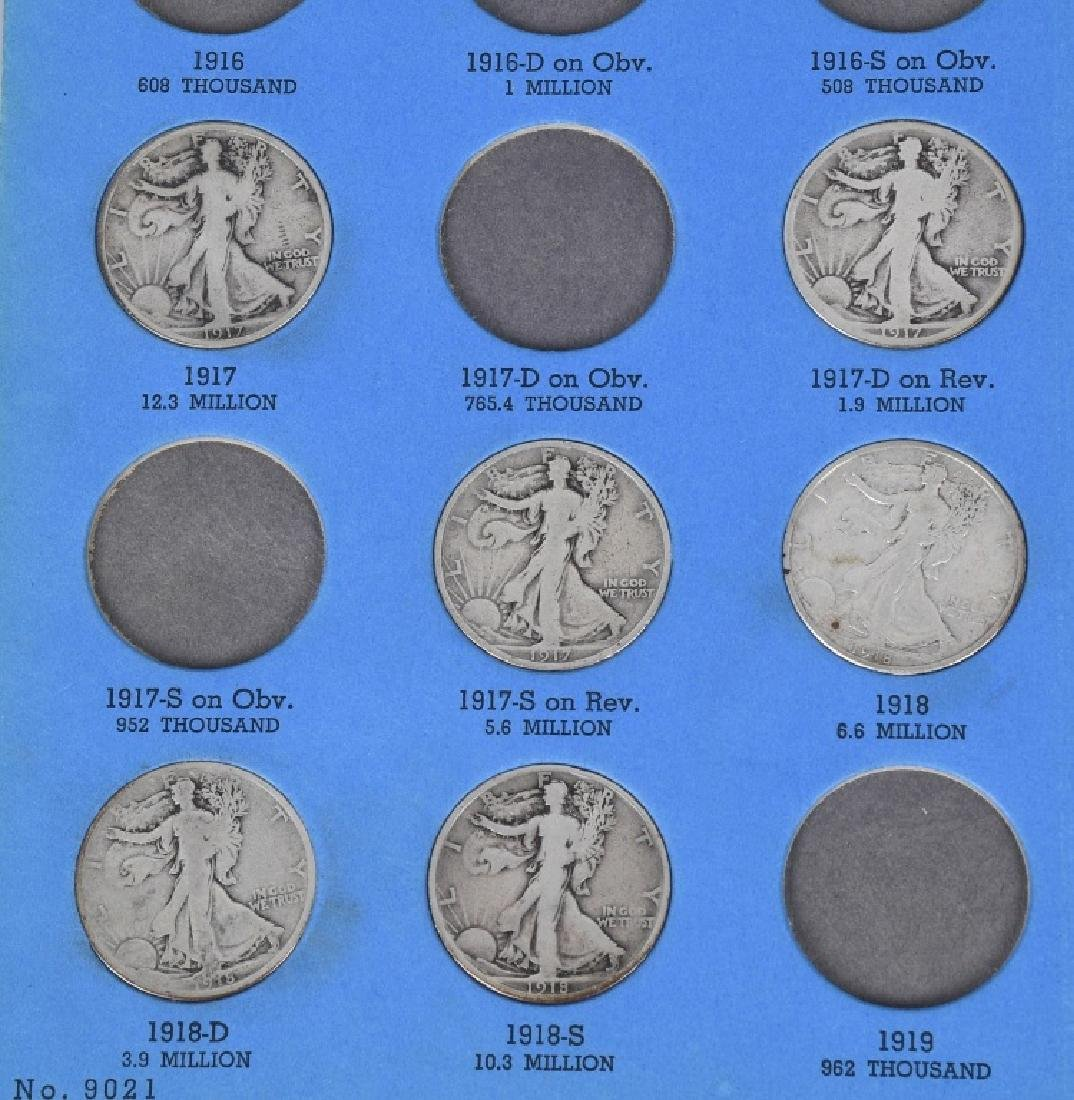 54-90% SILVER WALKING LIBERTY HALVES - 2