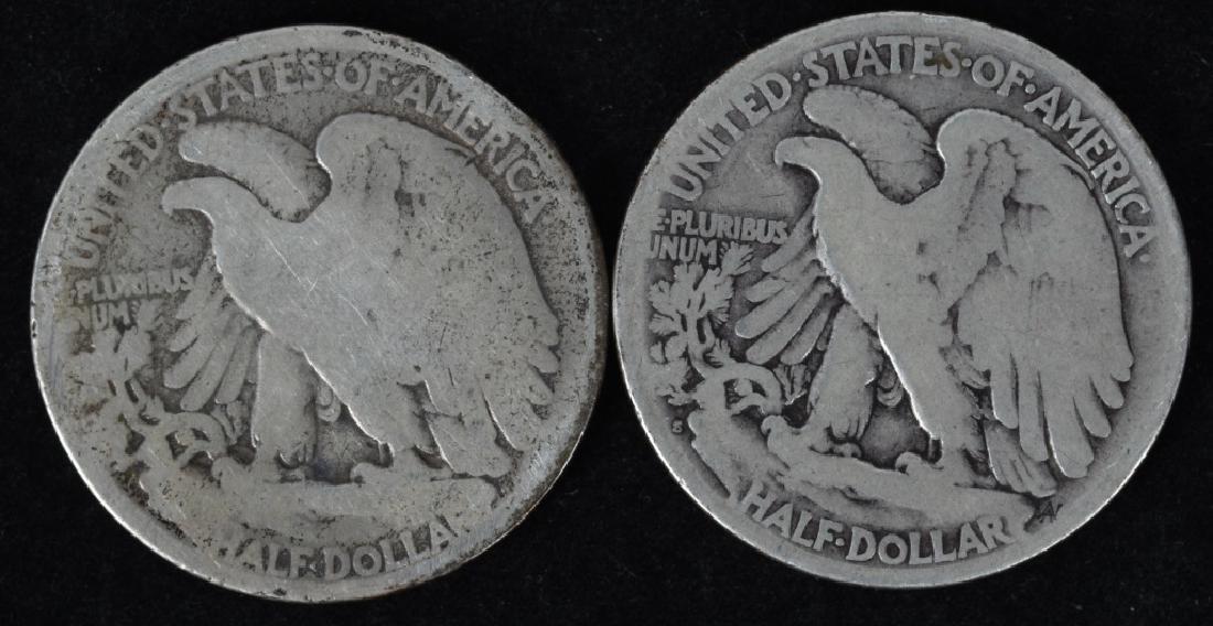 1921 P & S, 1938-D WALKING LIBERTY HALF DOLLARS - 3
