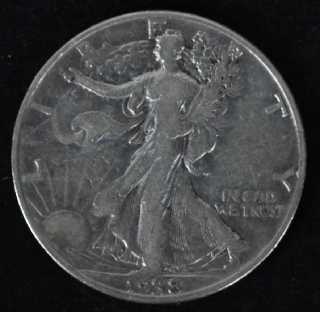 1921 P & S, 1938-D WALKING LIBERTY HALF DOLLARS - 4