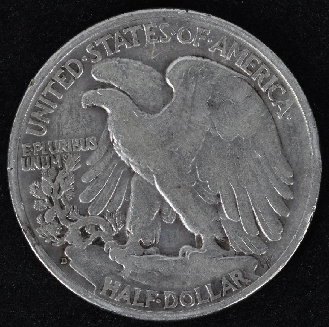 1921 P & S, 1938-D WALKING LIBERTY HALF DOLLARS - 5