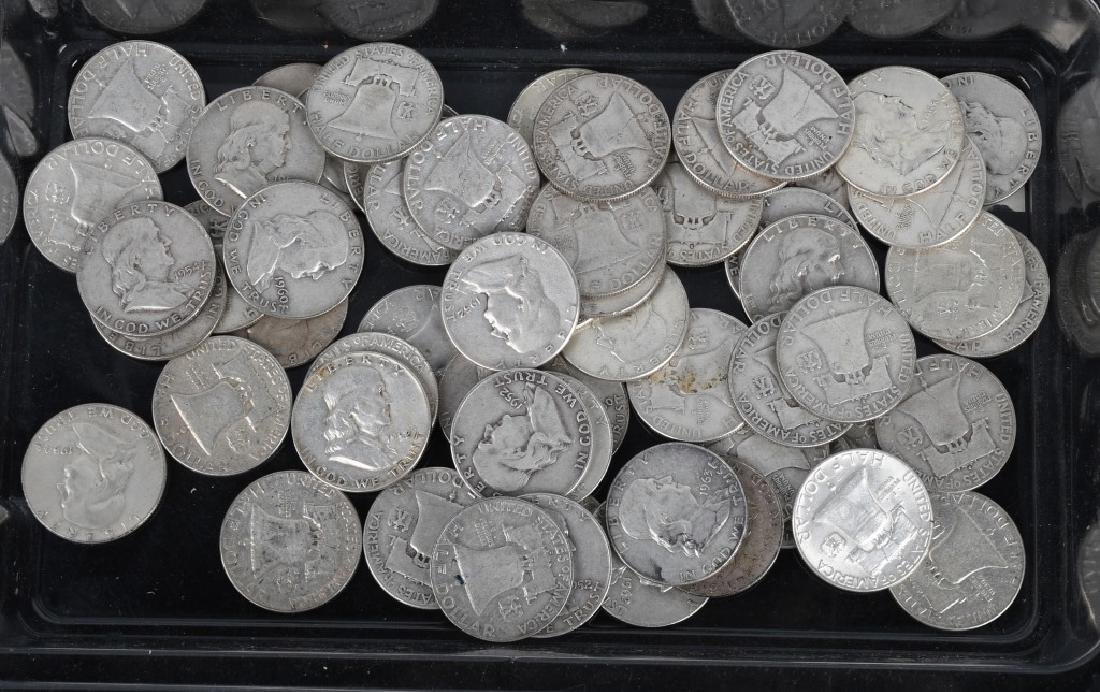 $30 US 90% SILVER BEN FRANKLIN HALF DOLLARS
