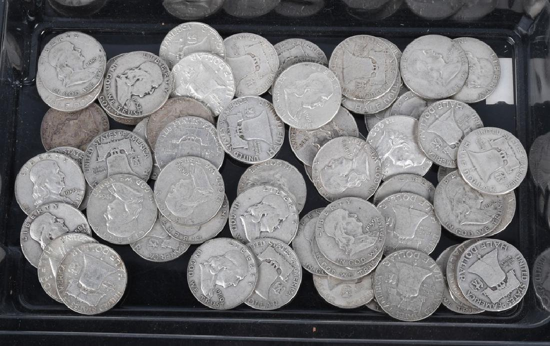 $30 US 90% SILVER BEN FRANKLIN HALF DOLLARS