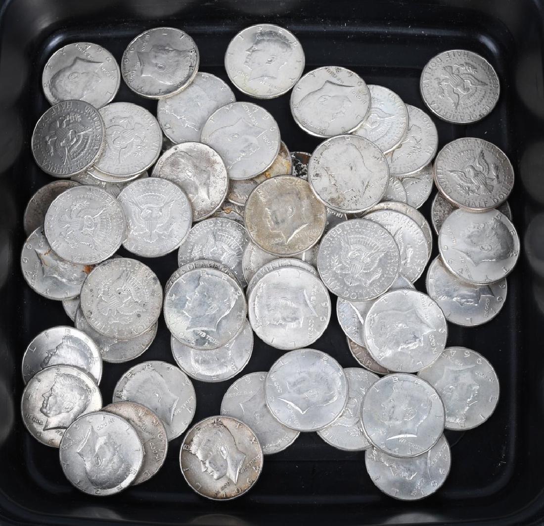 $30 US 90% SILVER 1964 KENNEDY HALF DOLLARS