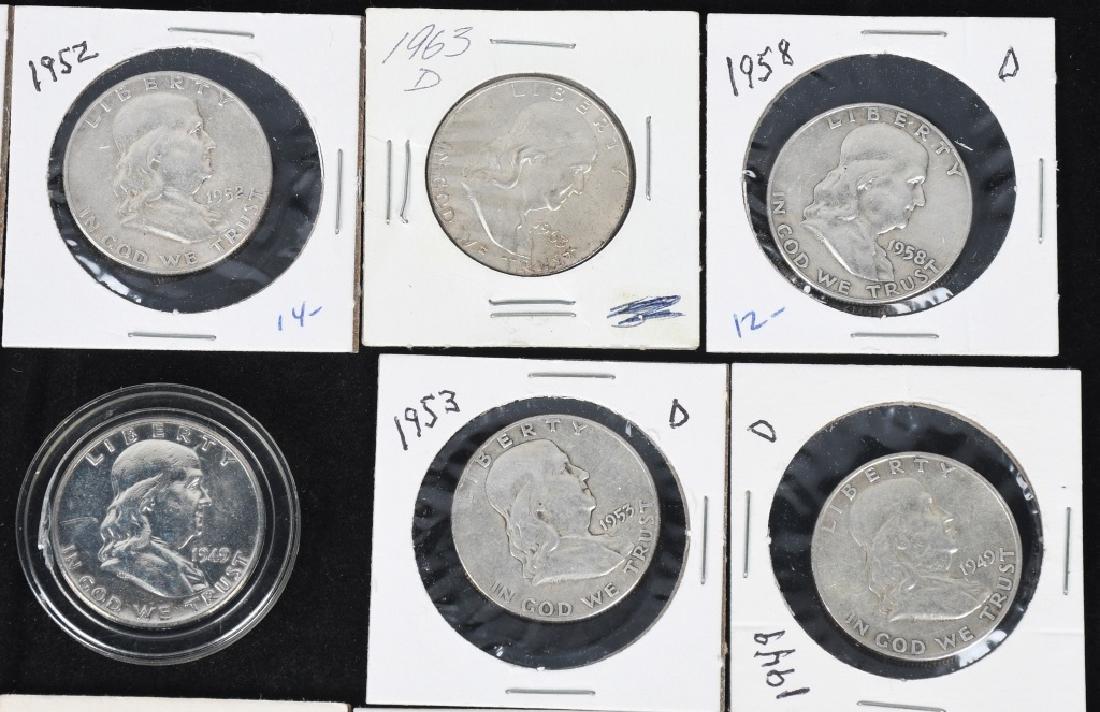 20-MIXED 90% SILVER HALF DOLLARS, 1908-1964 - 2
