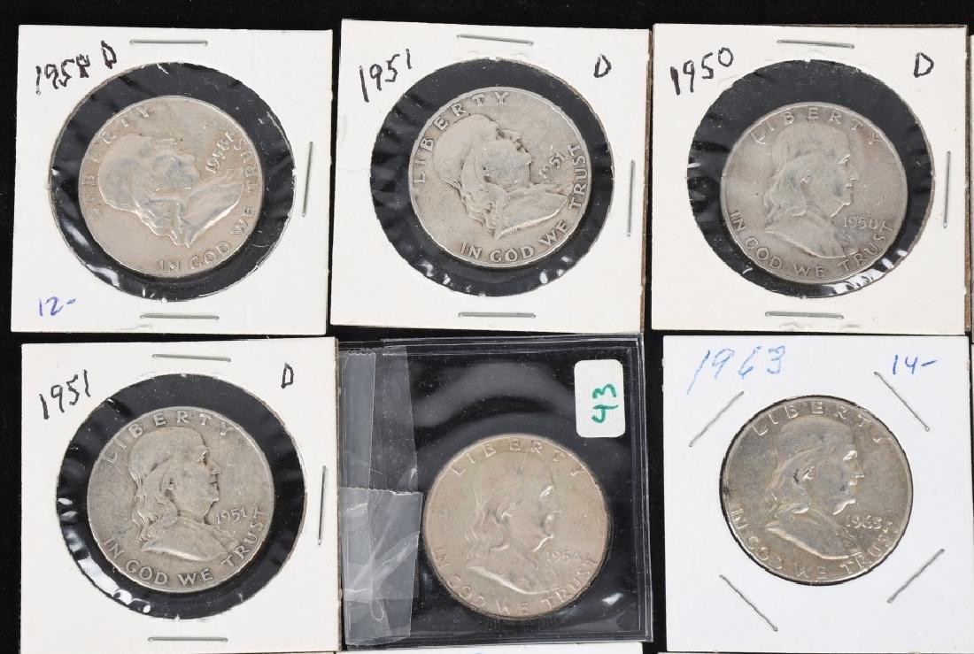 20- 90% SILVER FRANKLIN HALF DOLLARS, 1950-1963 - 2