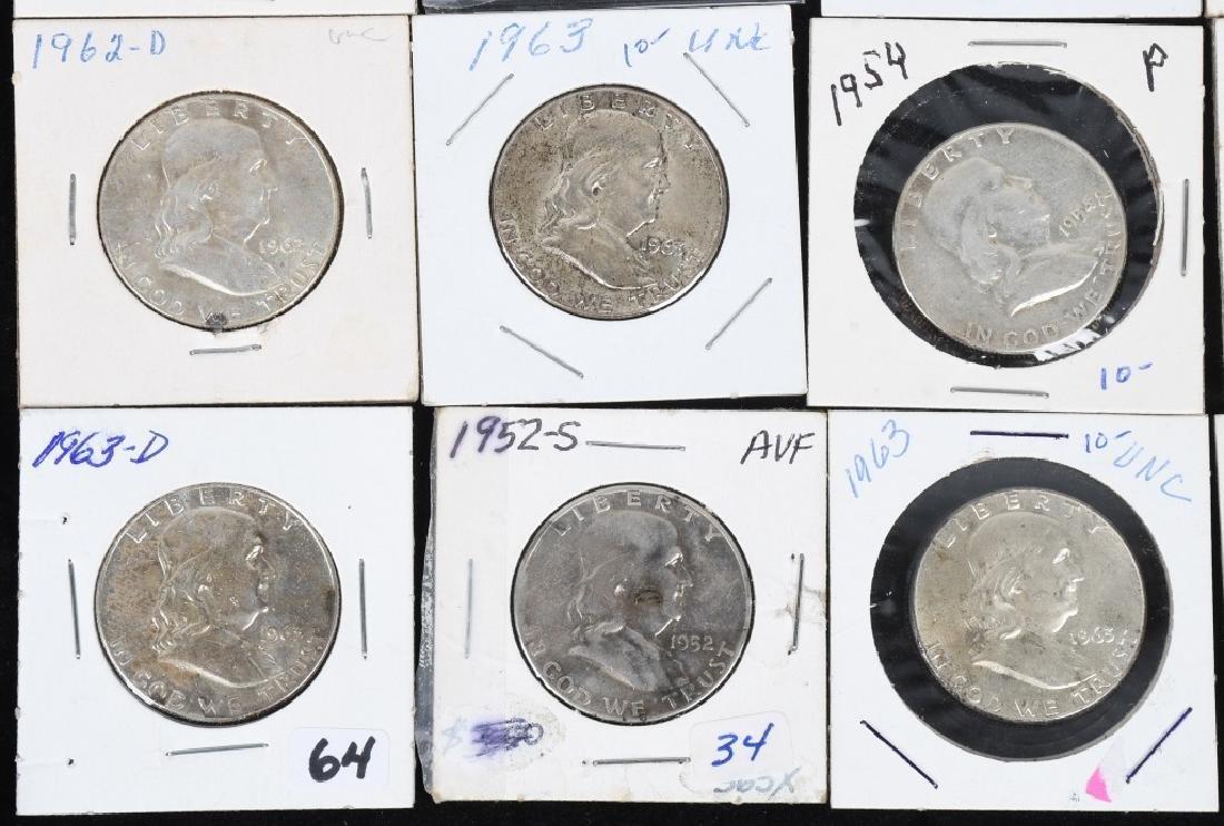 20- 90% SILVER FRANKLIN HALF DOLLARS, 1950-1963 - 5