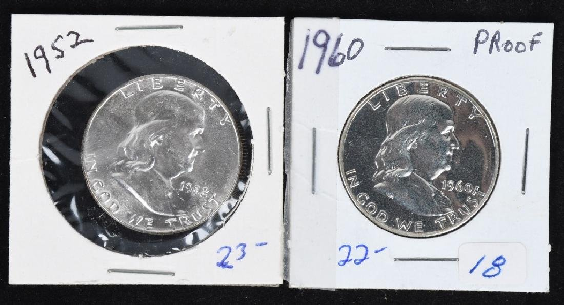 10-HIGH GRADE 90% SILVER FRANKLIN HALF DOLLARS - 4
