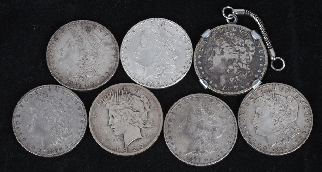 8- US SILVER DOLLARS 7-PRE21 1 PEACE