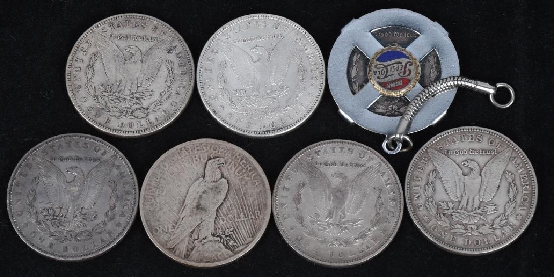 8- US SILVER DOLLARS 7-PRE21 1 PEACE - 2