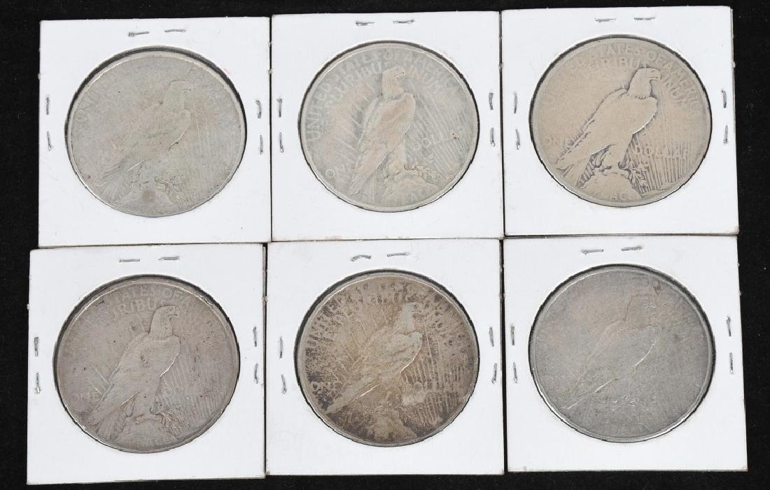 6- 1923 US PEACE SILVER DOLLARS - 2