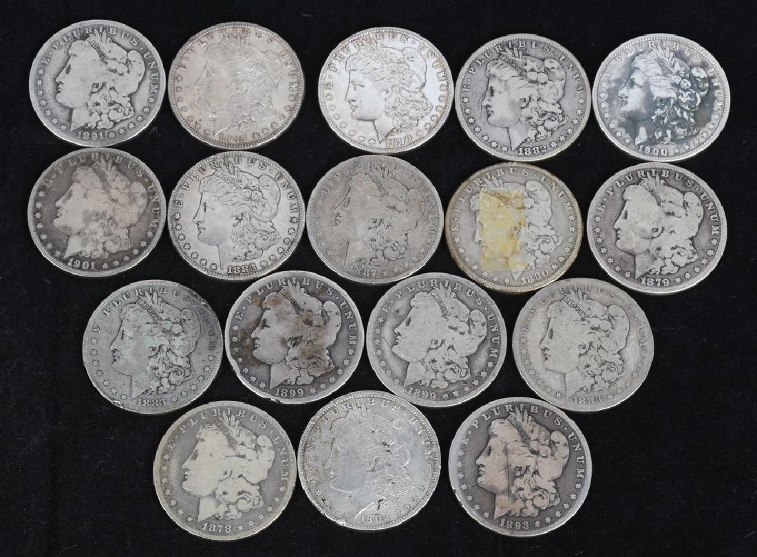 17- US PRE 1921 MORGAN SILVER DOLLARS