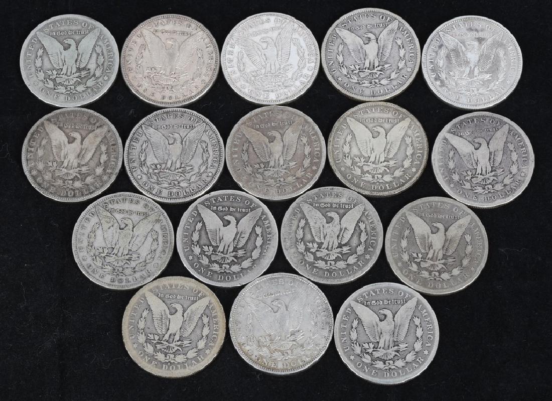 17- US PRE 1921 MORGAN SILVER DOLLARS - 2