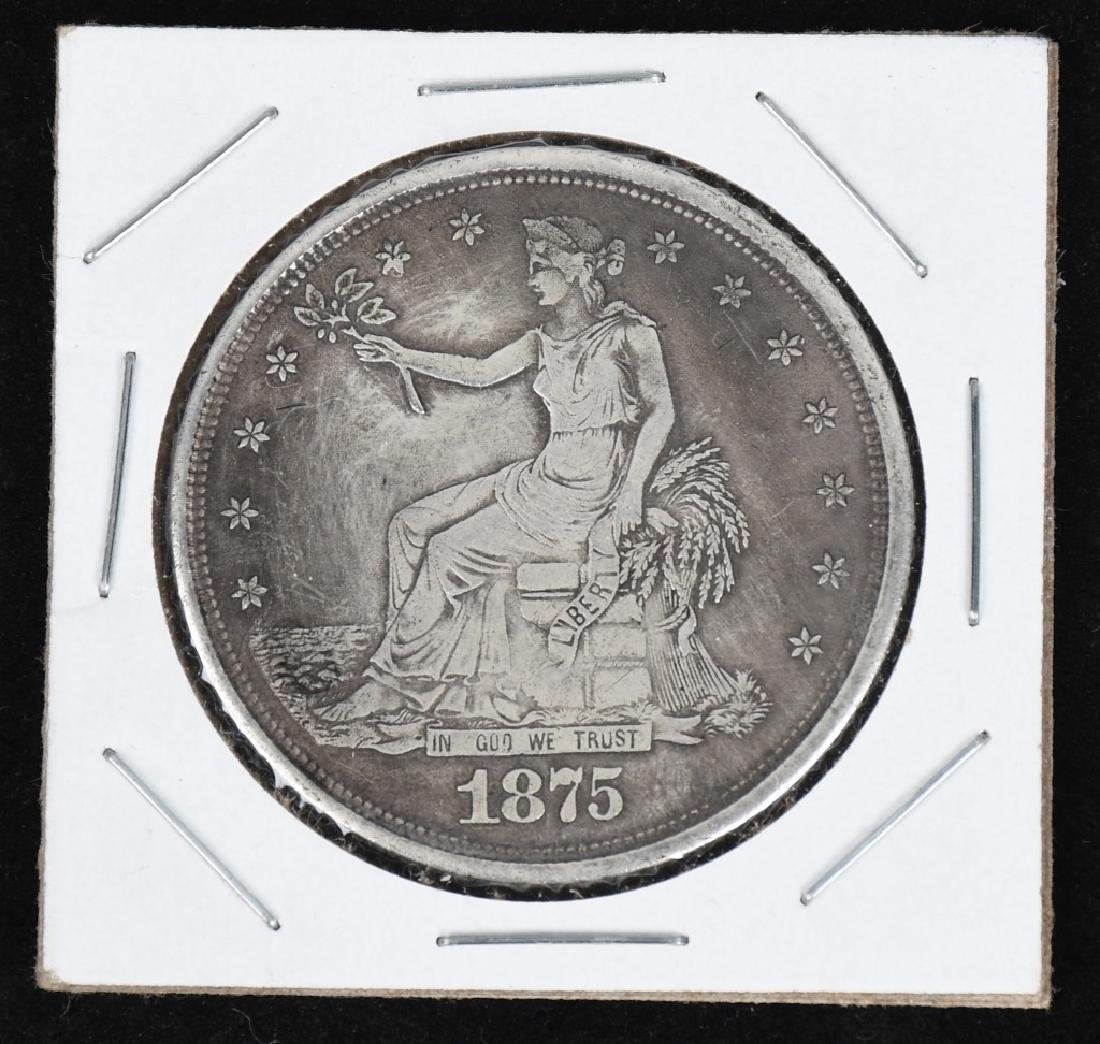 1875 S US TRADE SILVER DOLLAR