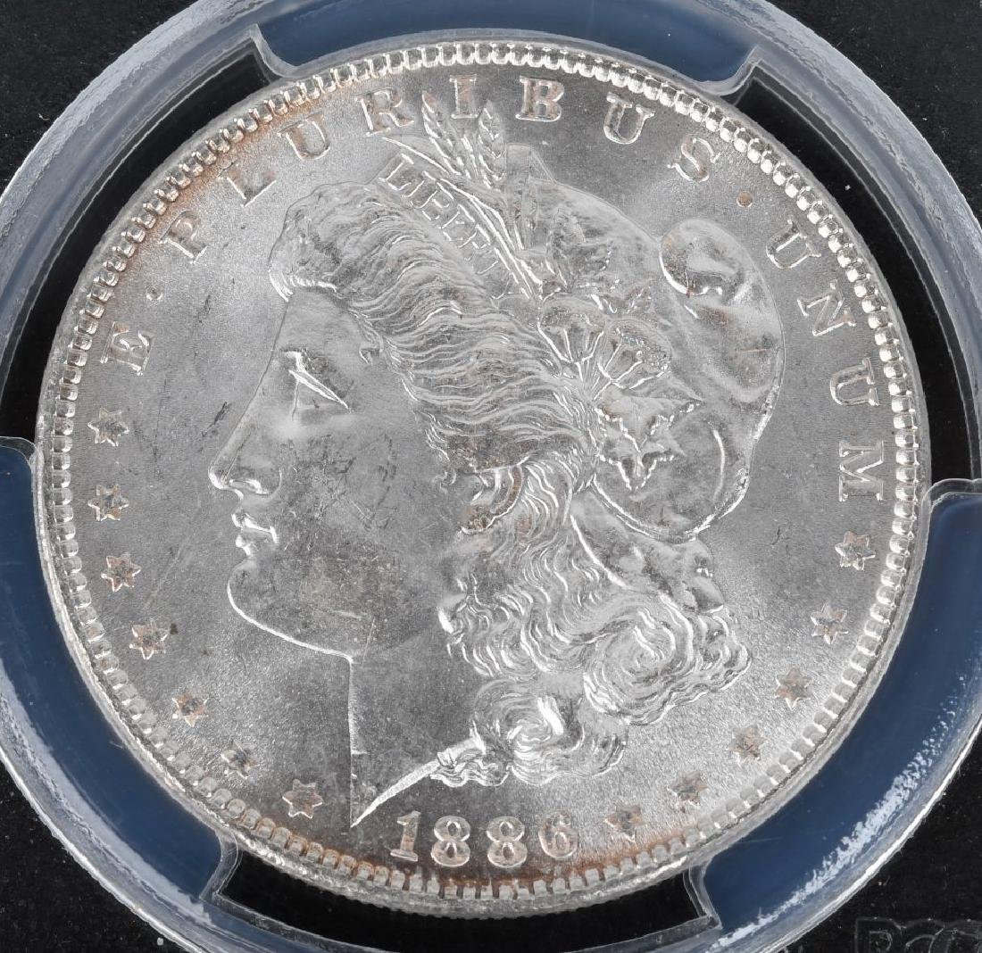 1880S MS64 & 1886 MS65 MORGAN DOLLARS - 2