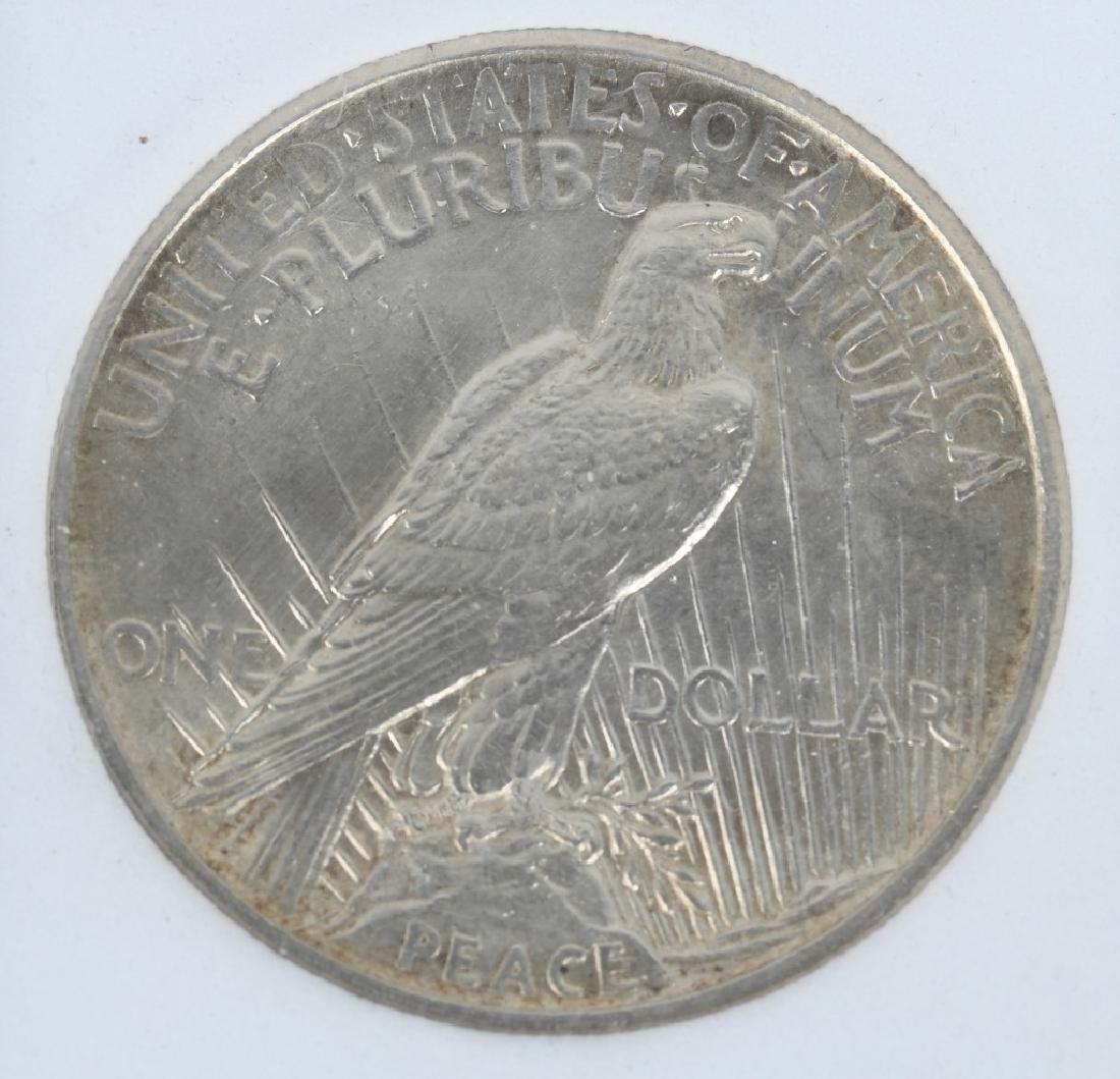 1921 HIGH RELIEF PEACE DOLLAR - 2