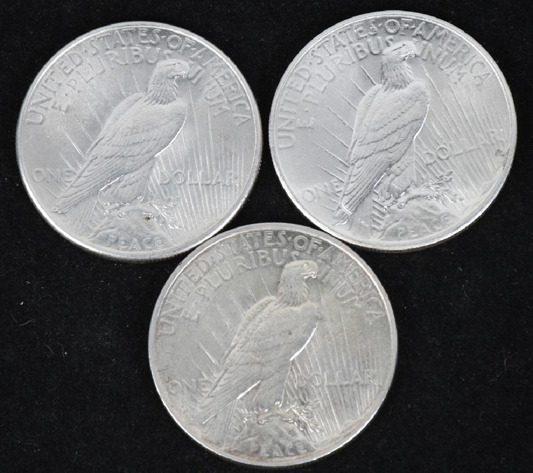 3- US PEACE SILVER DOLLARS AU+ - 2