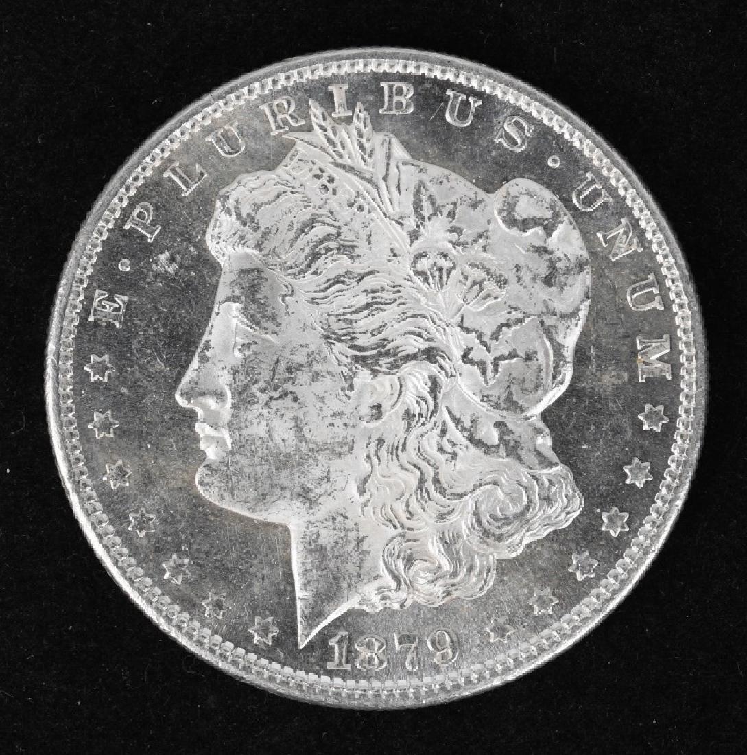 1879 S US MORGAN SILVER DOLLAR DMPL