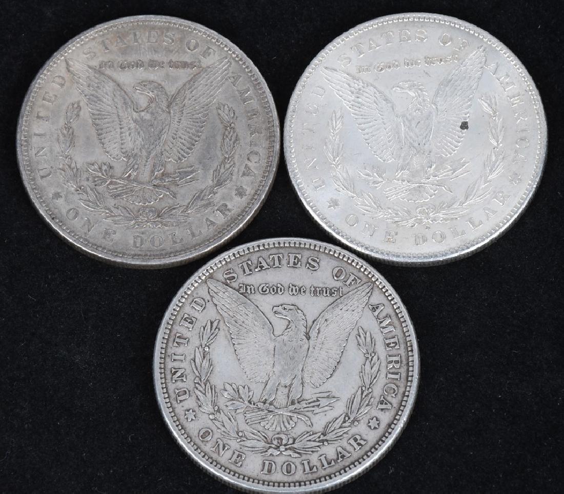 3- 1878 US MORGAN SILVER DOLLARS AU-BU - 2