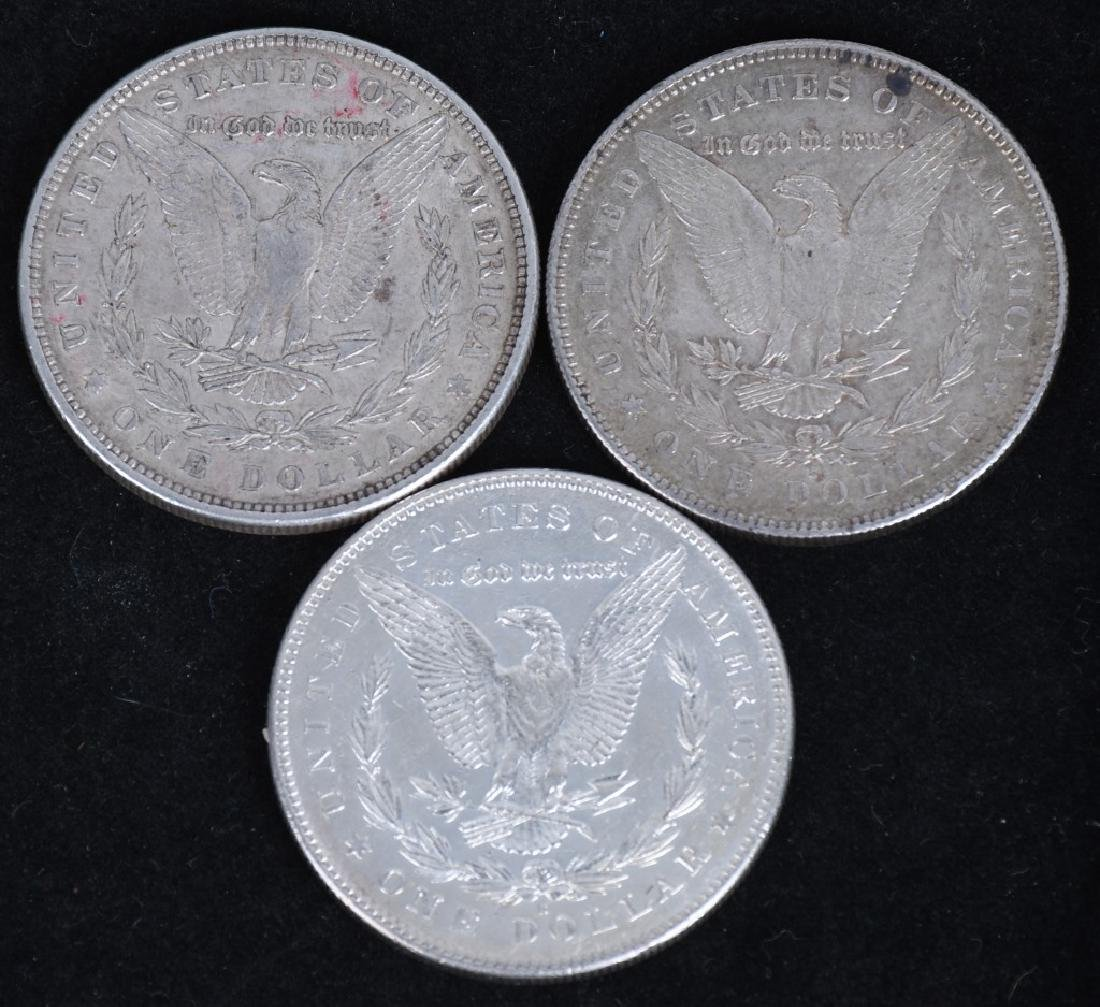 3- US MORGAN SILVER DOLLARS AU-BU - 2