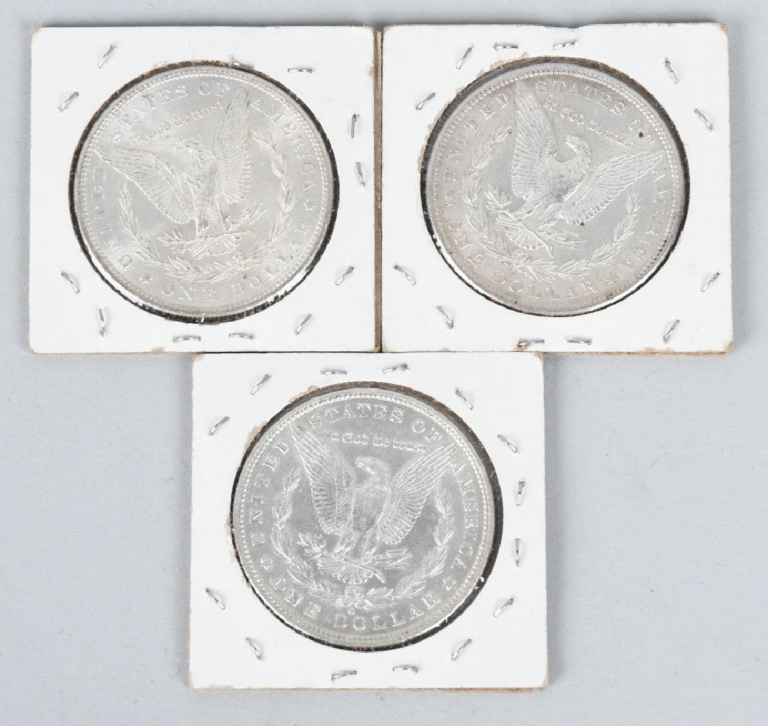 3- US MORGAN SILVER DOLLARS AU-BU - 2