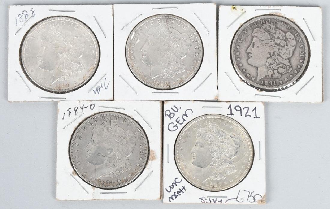 5 - US MORGAN SILVER DOLLARS VG-BU