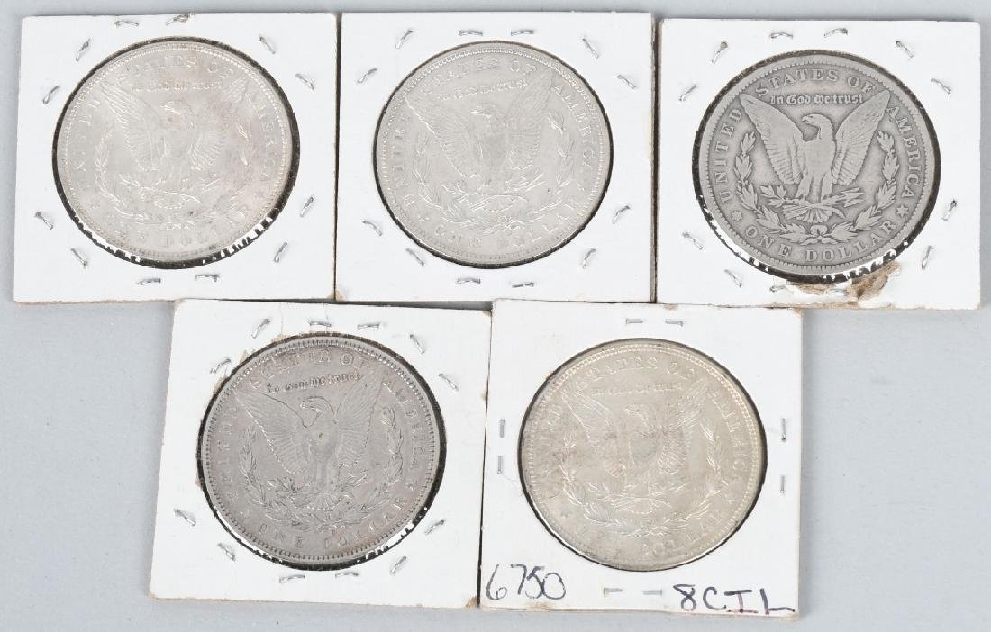 5 - US MORGAN SILVER DOLLARS VG-BU - 2