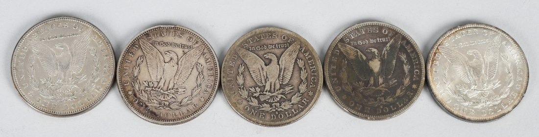 5 - US MORGAN SILVER DOLLARS VG-UNC - 2