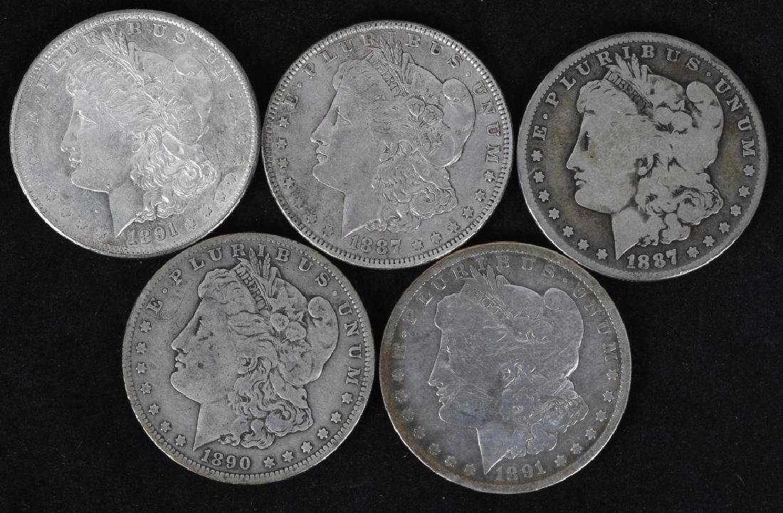 5 - US MORGAN SILVER DOLLARS G-AU