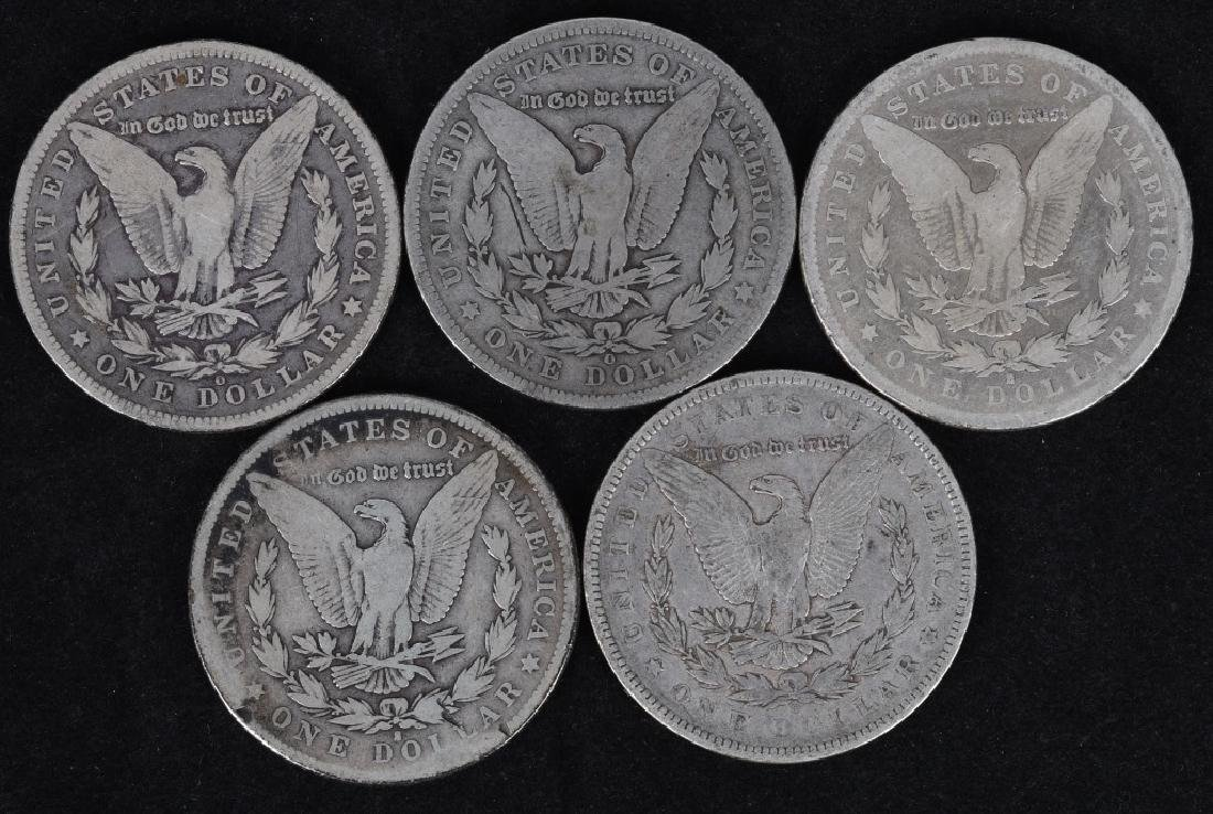 5 - US MORGAN SILVER DOLLARS G-F - 2