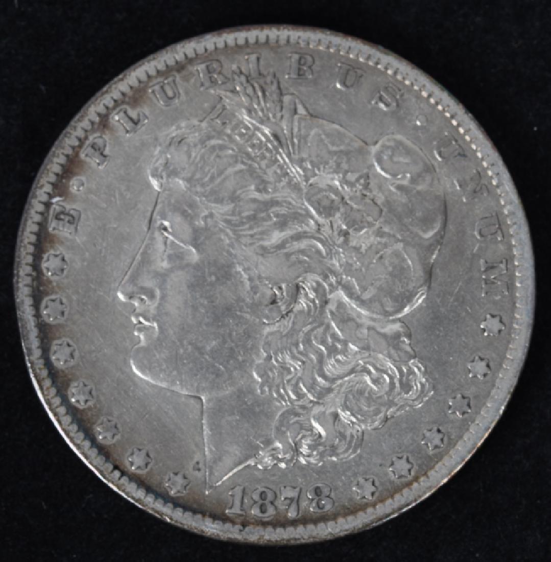 1878-CC and 1879 -CC MORGAN SILVER DOLLARS, G-F - 2