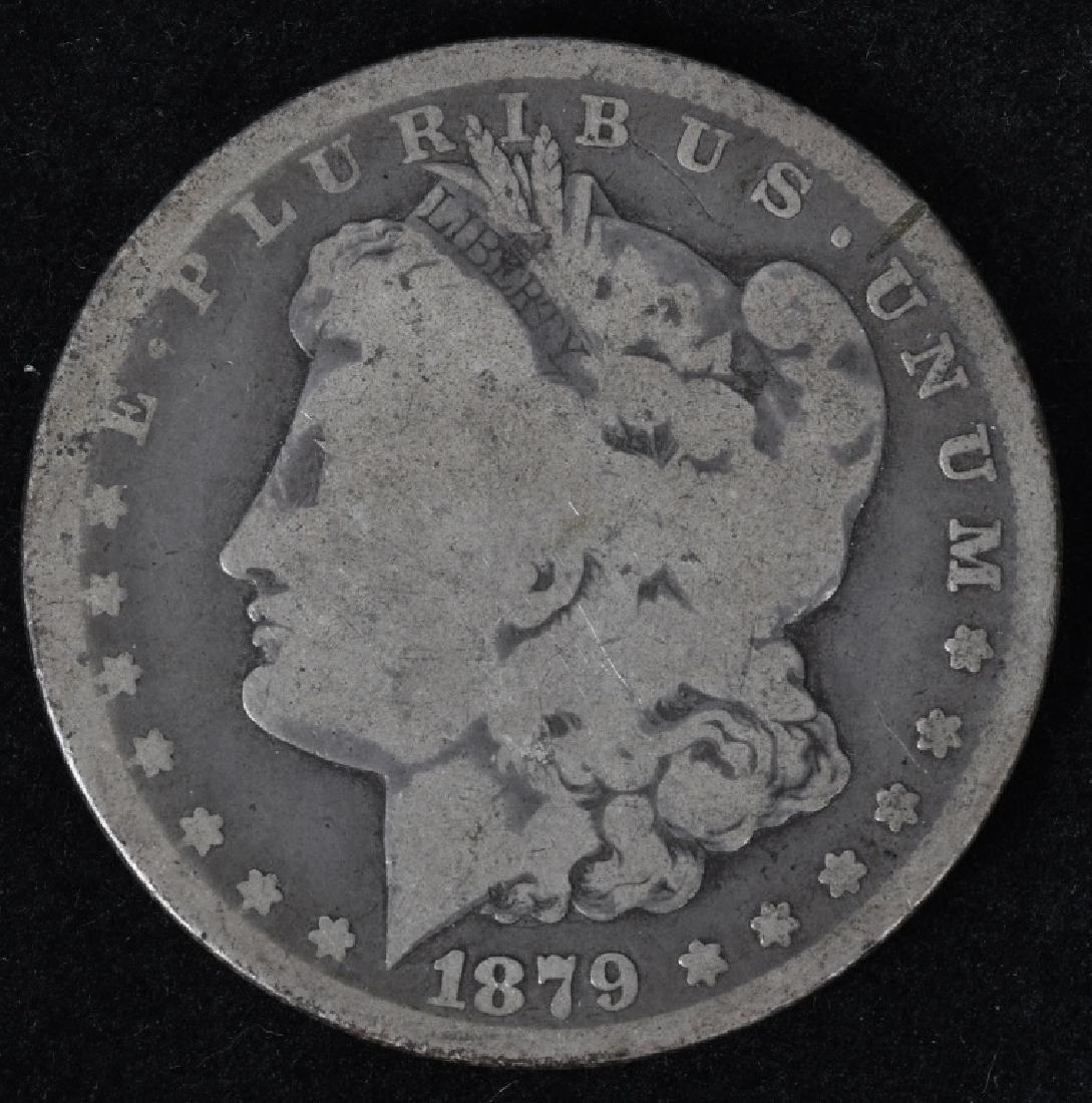 1878-CC and 1879 -CC MORGAN SILVER DOLLARS, G-F - 4