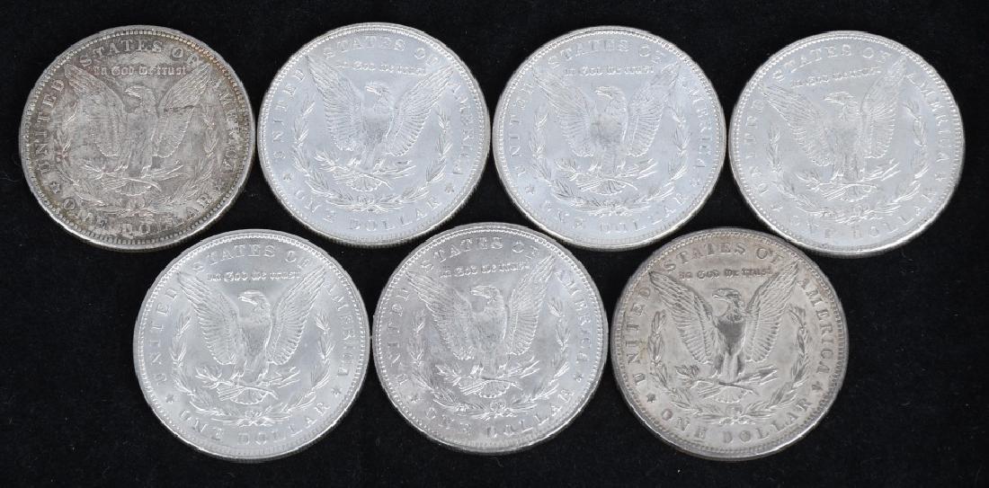 7- US MORGAN SILVER DOLLARS AU-BU - 2