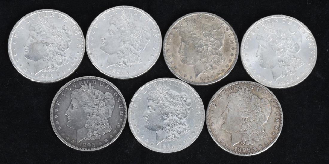 7- US MORGAN SILVER DOLLARS AU-BU