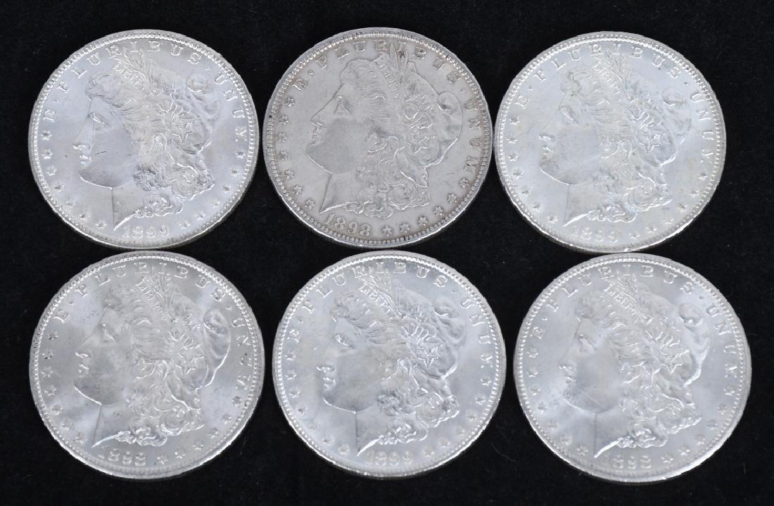 6- US MORGAN SILVER DOLLARS AU-BU