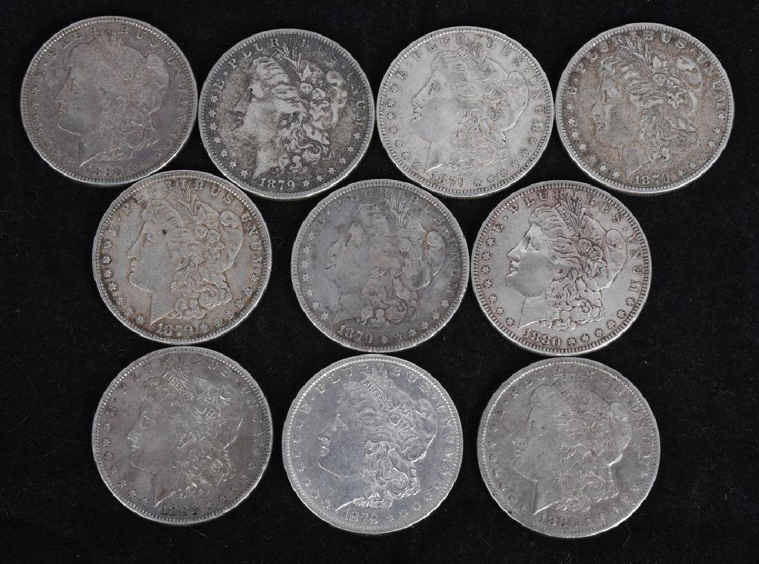 10- US MORGAN SILVER DOLLARS VG-XF