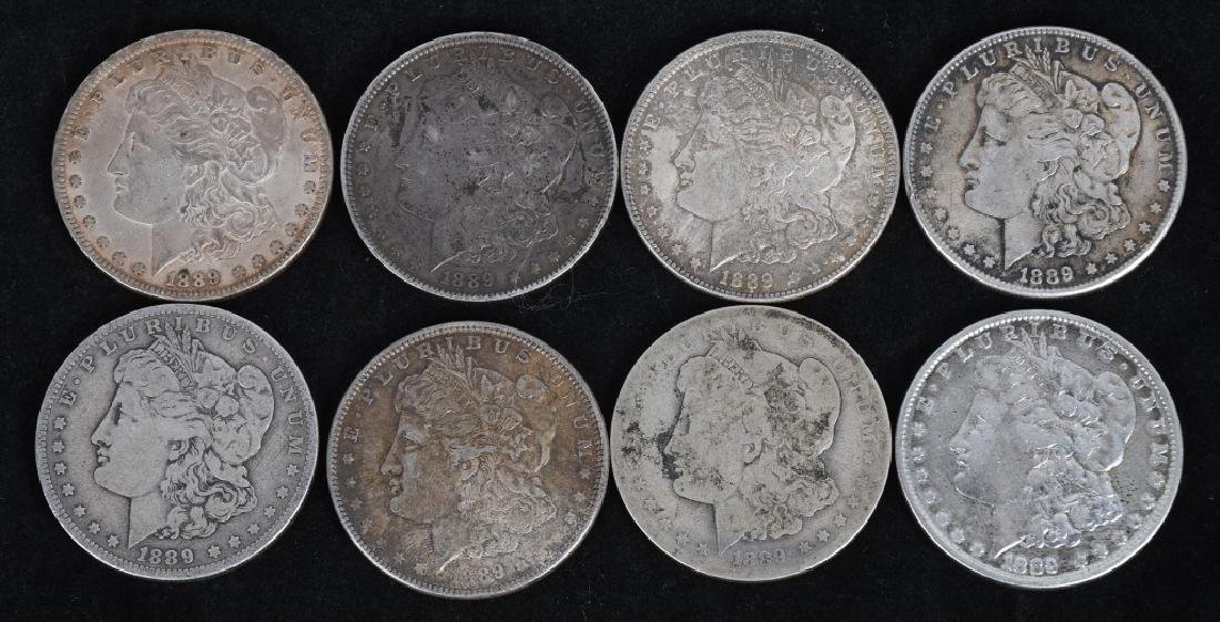 8- US MORGAN SILVER DOLLARS VG-XF
