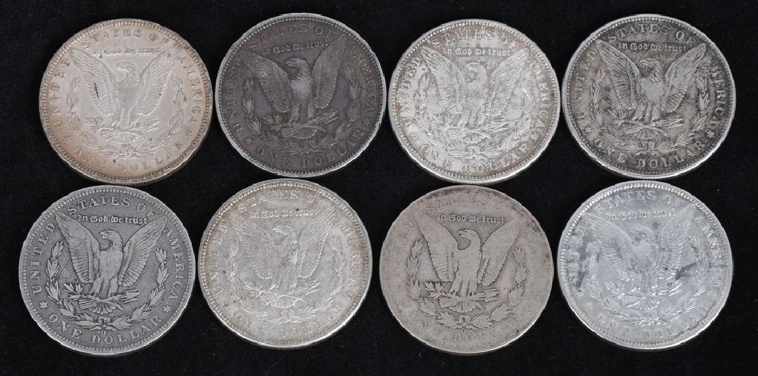 8- US MORGAN SILVER DOLLARS VG-XF - 2
