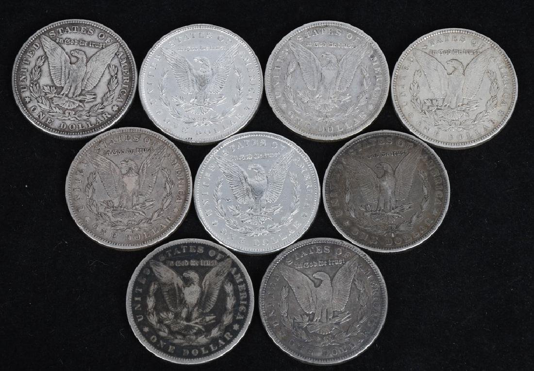 9-US MORGAN SILVER DOLLARS VG-XF - 2