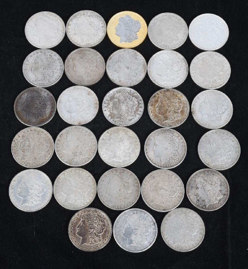 28- US 1921 MORGAN SILVER DOLLARS -XF-AU