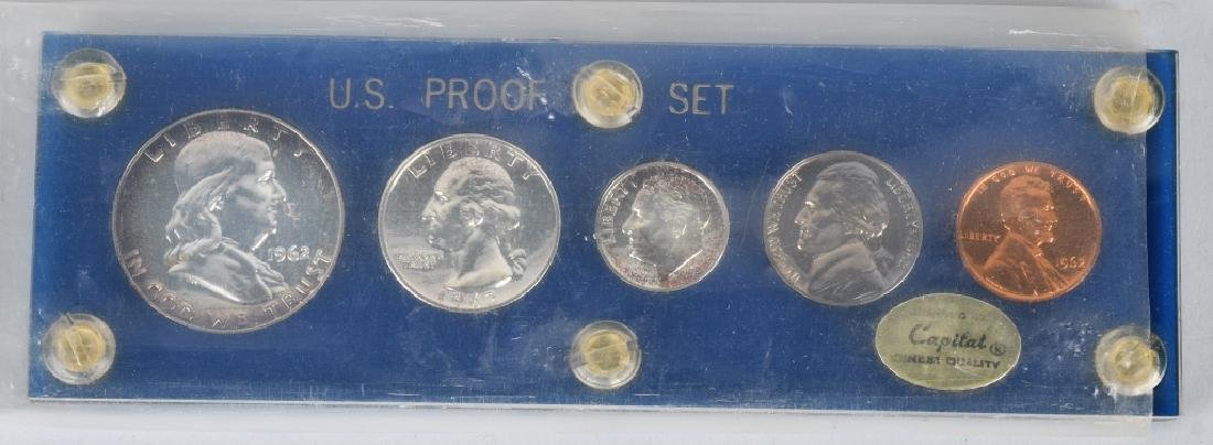 7-90% SILVER PROOF SETS, 1961-1964 - 2