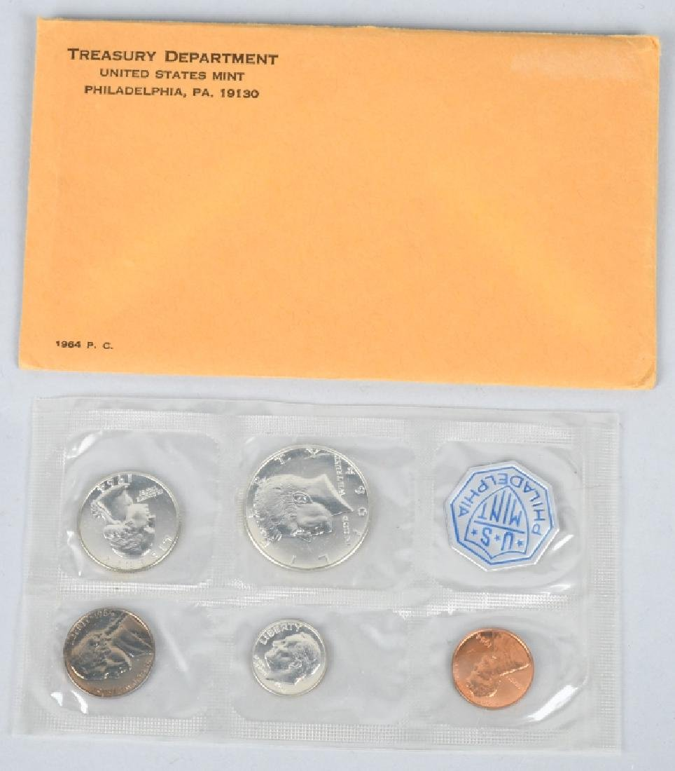 7-90% SILVER PROOF SETS, 1961-1964 - 4