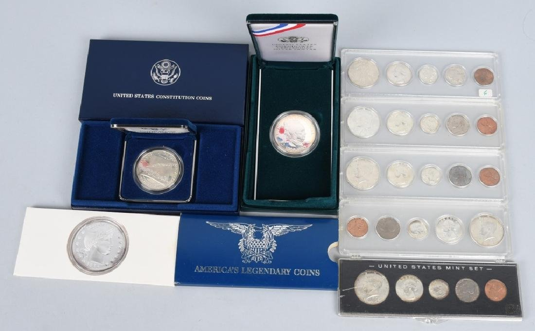 90% SILVER LOT, MINT SETS and MORE
